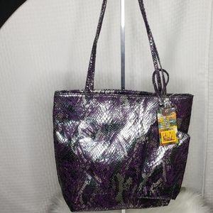 NWT Carlos Falchi tribal print purse set